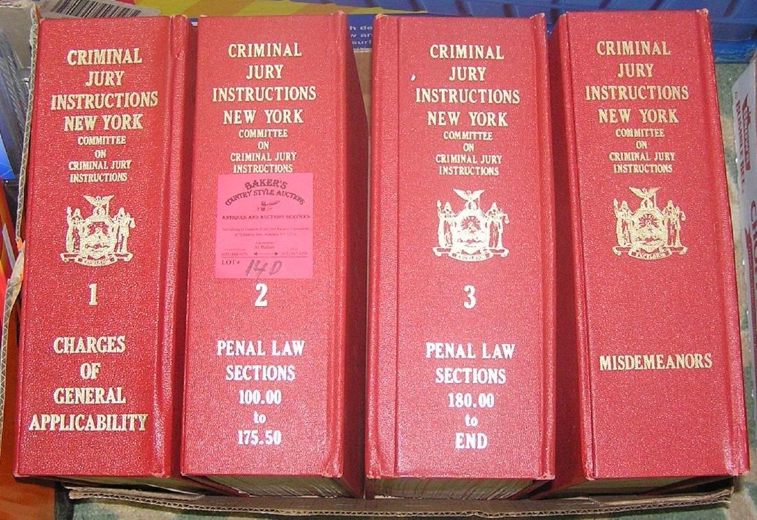 Set of 4 criminal jury instruction law books