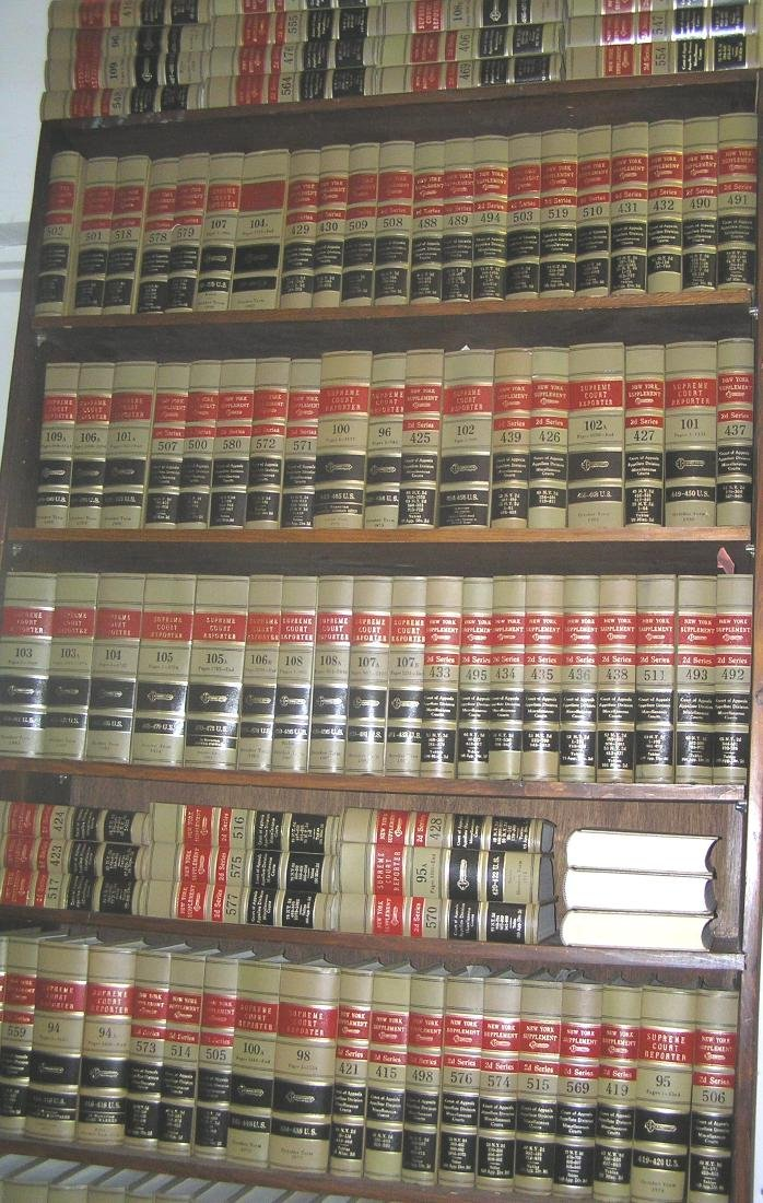 Large collection of law books