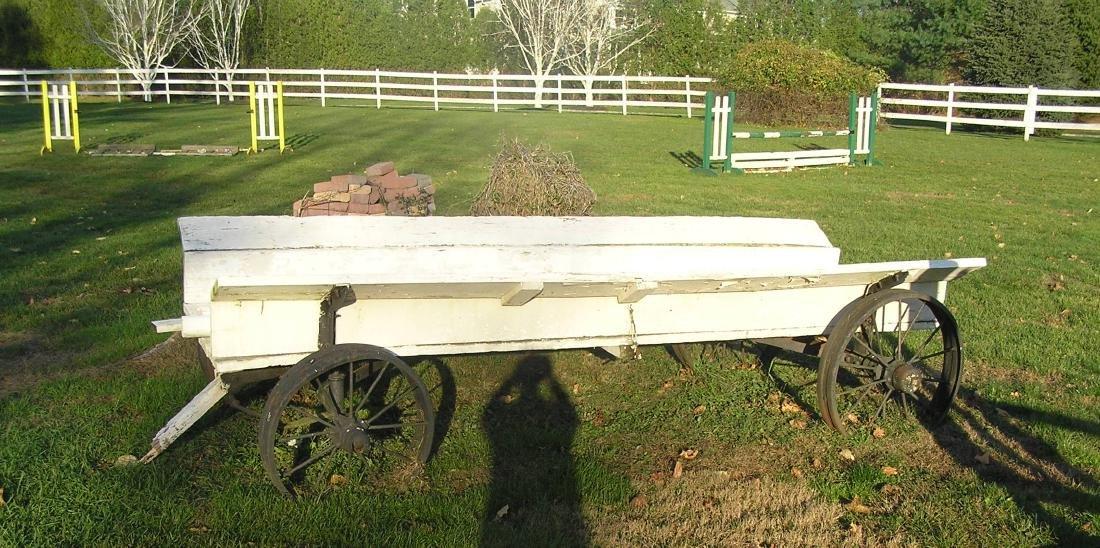 Antique horse drawn farm cart
