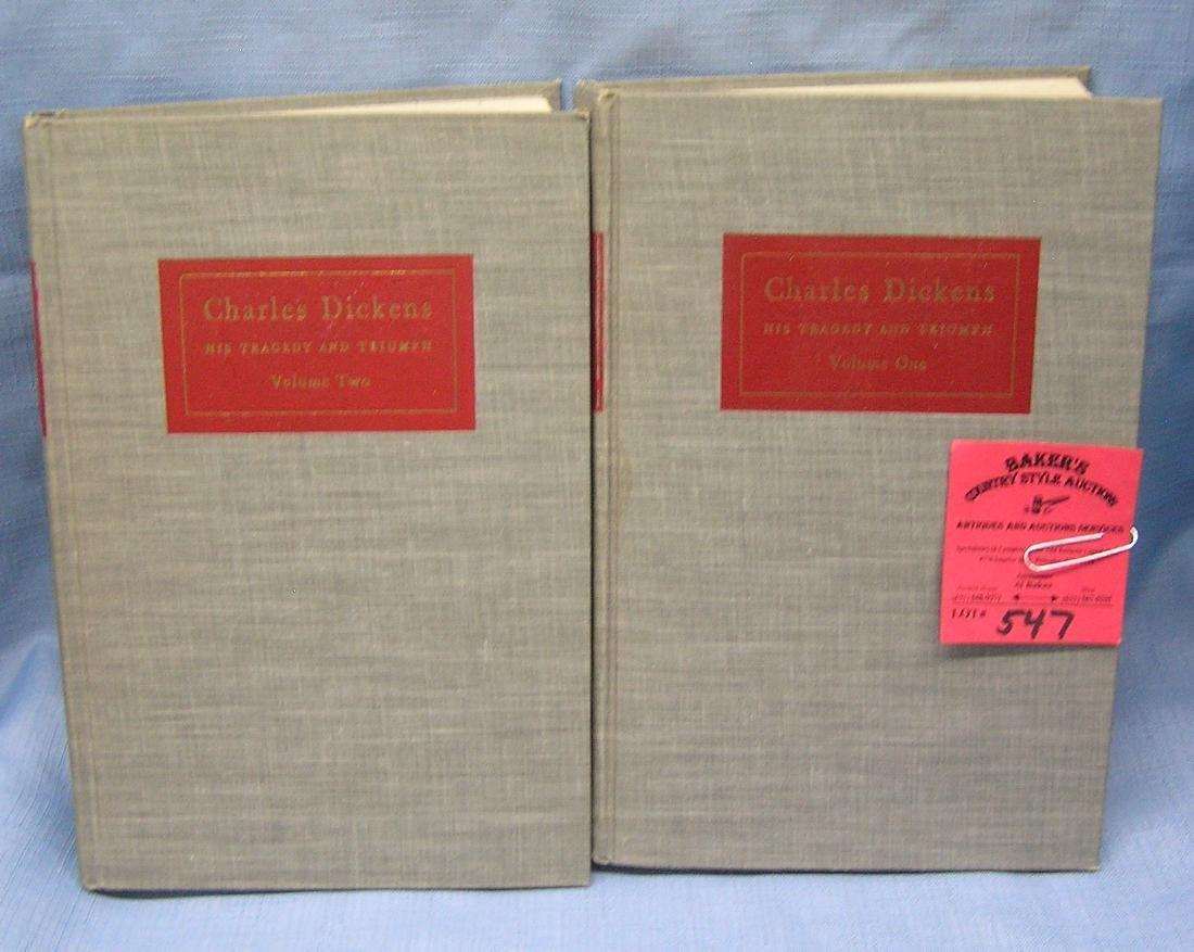 Pair of vintage Charles Dickens books