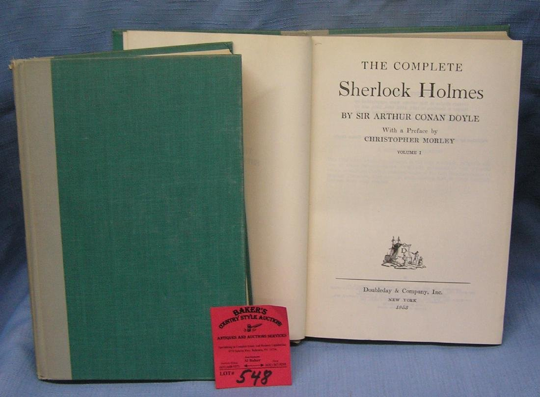 Pair of vintage Sherlock Holmes books