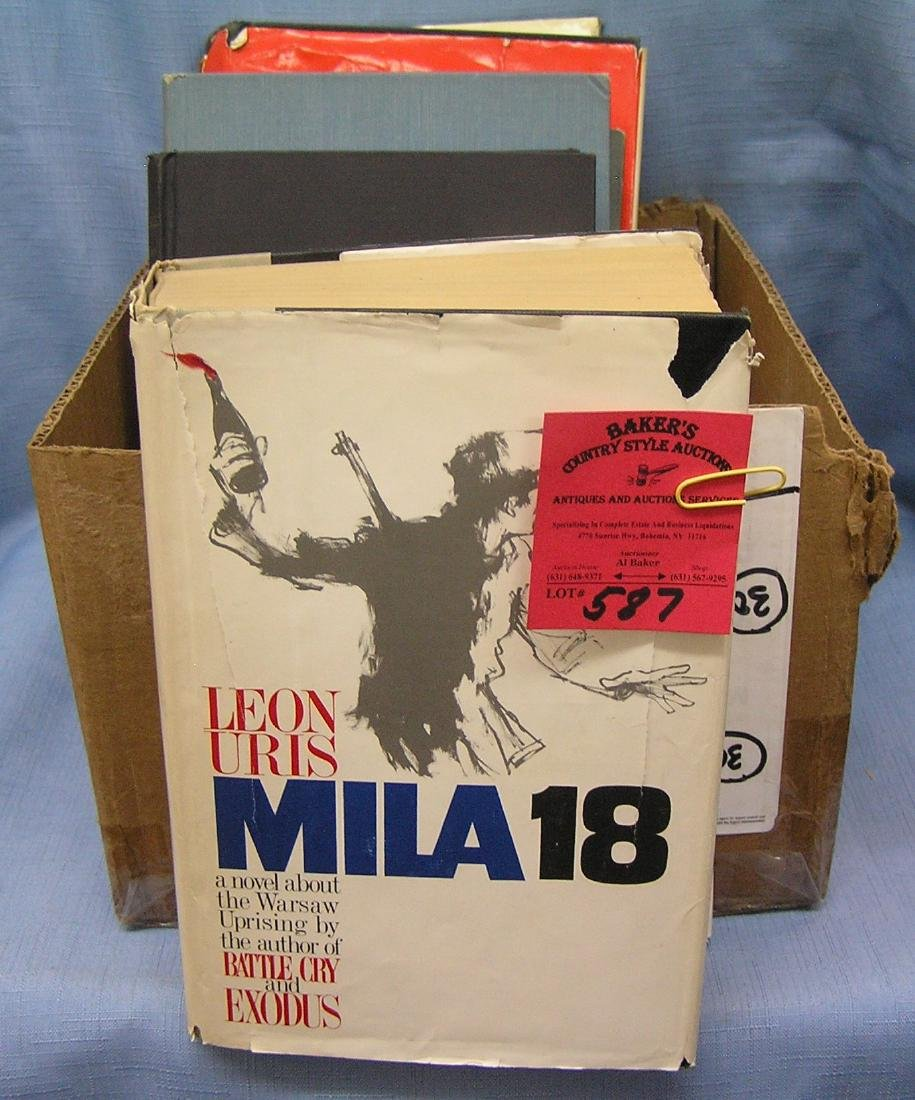 Box of vintage and antique books