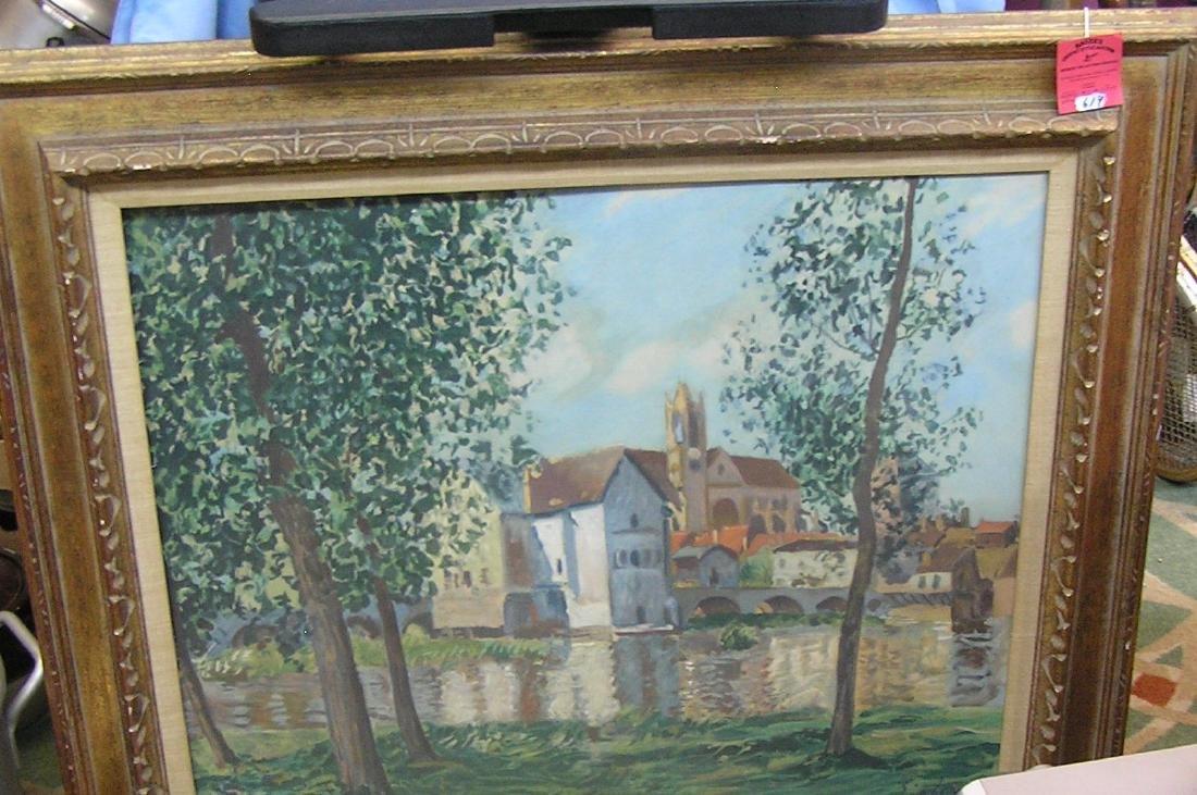 Vintage art work matted and framed