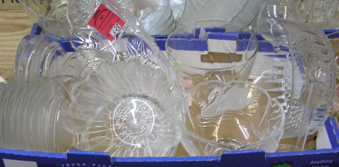 Vintage crystal and glass serving pieces