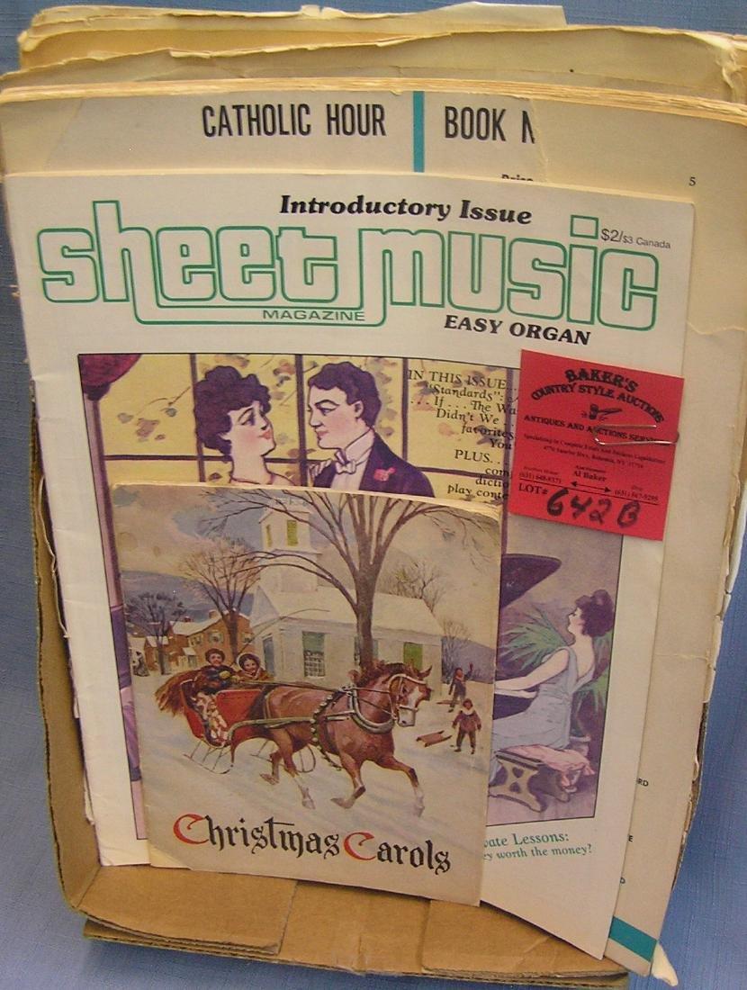 Group of sheet music