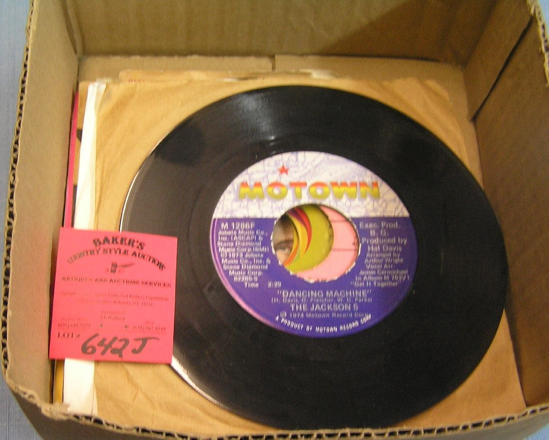 Group of vintage 45rpm records