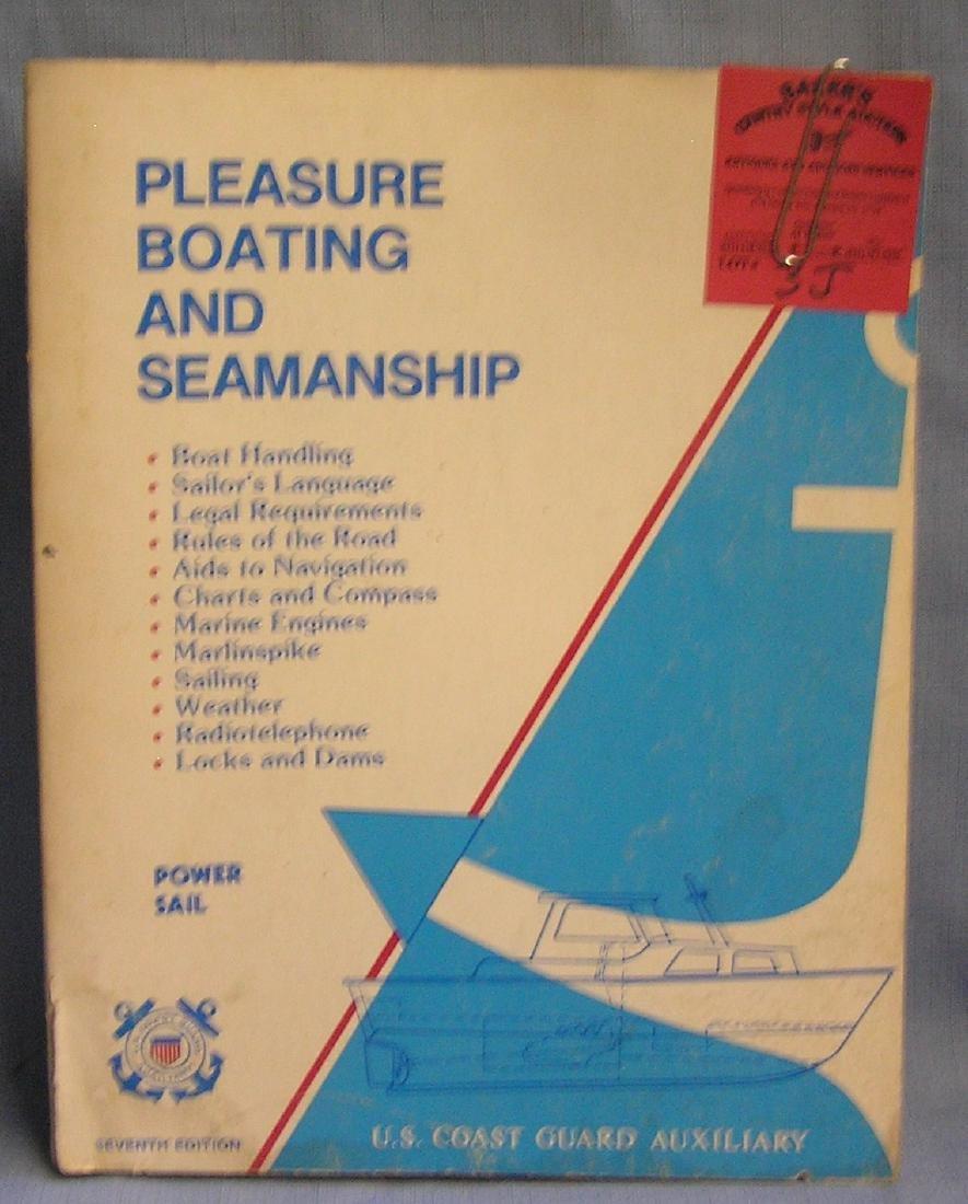 Pleasure boating and seamanship book,