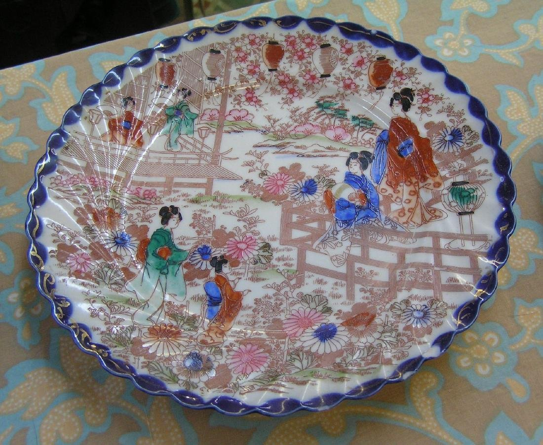 Group of Japanese plates, platters and accessories - 2