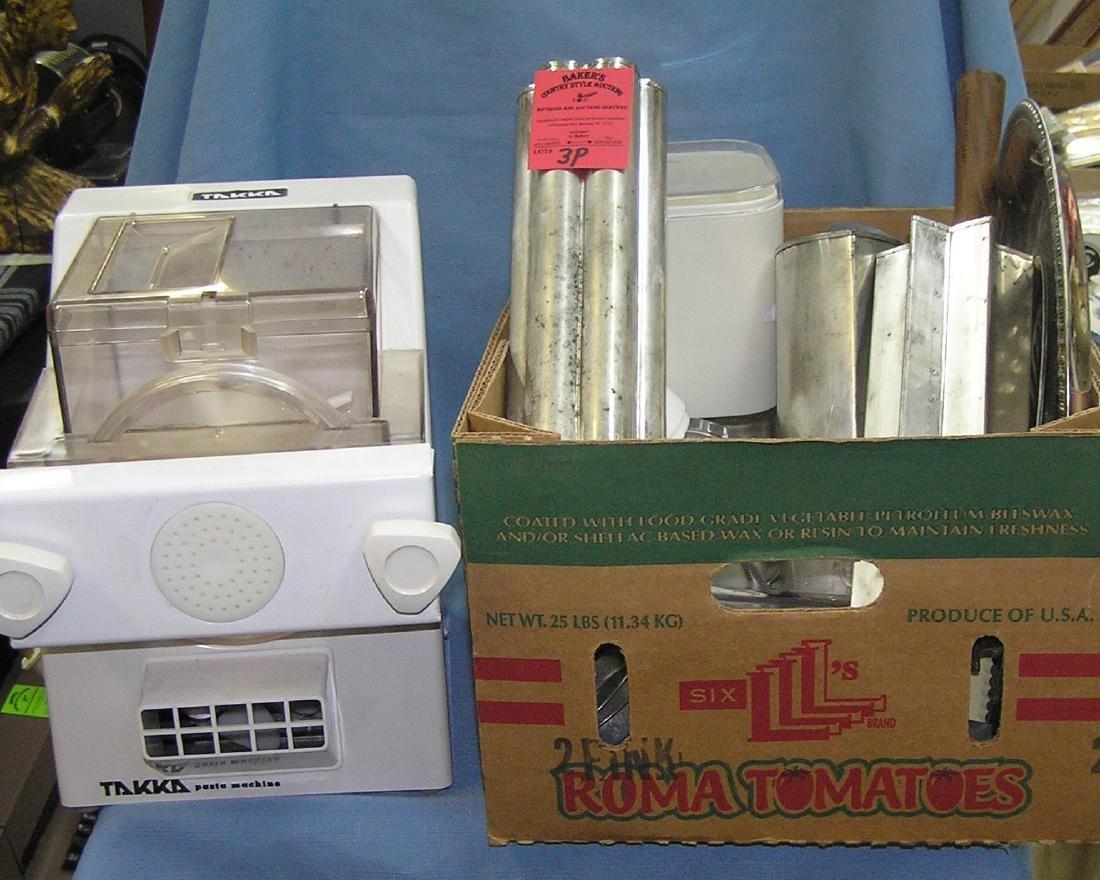 Box full of estate kitchenwares