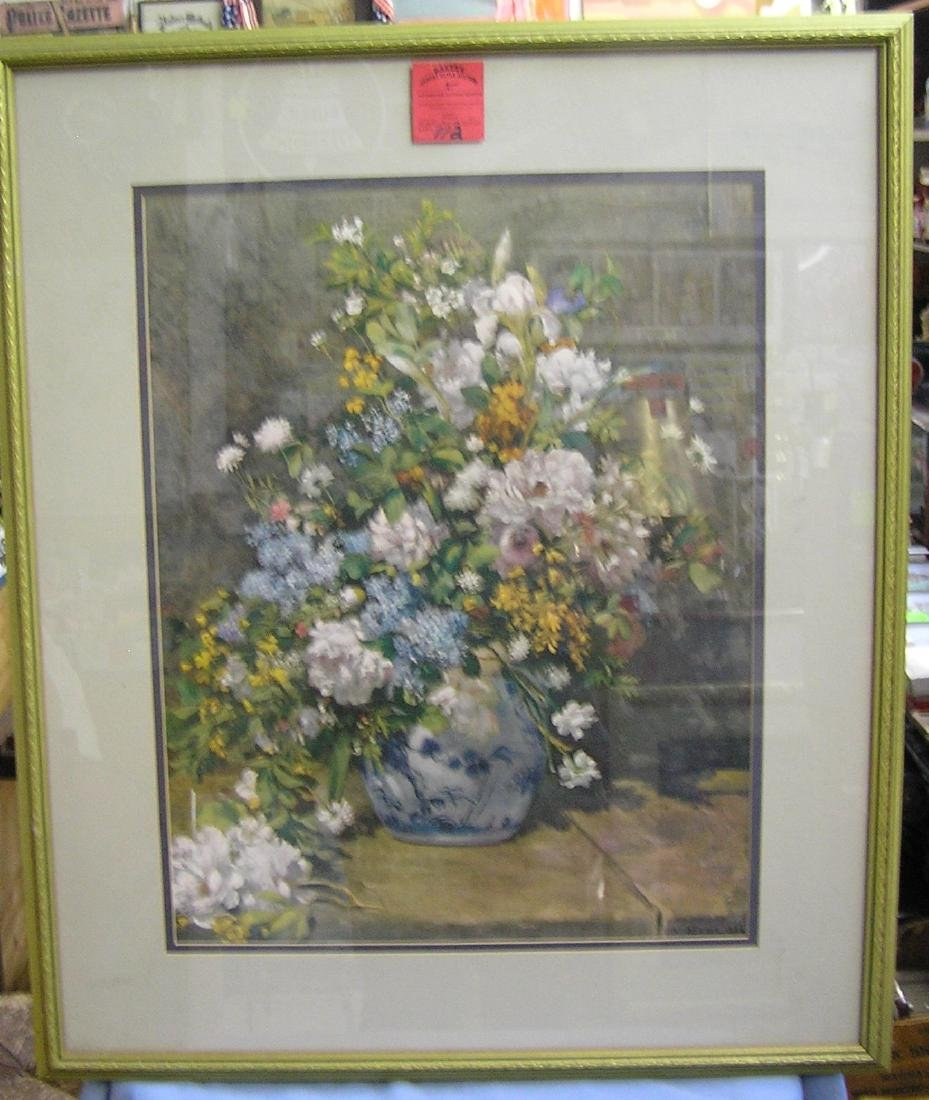 High quality floral Renoir framed print