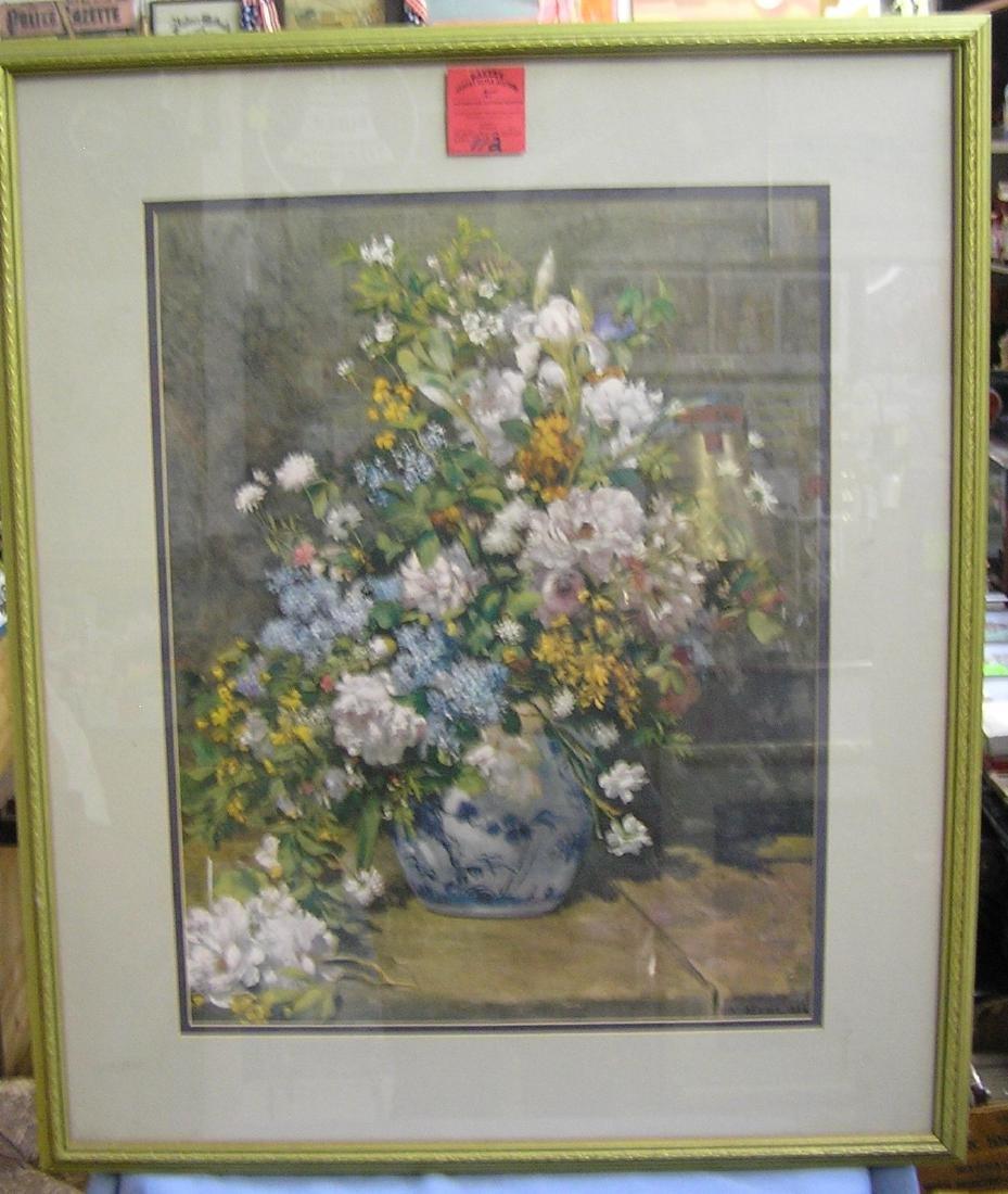High quality floral Renoir framed print