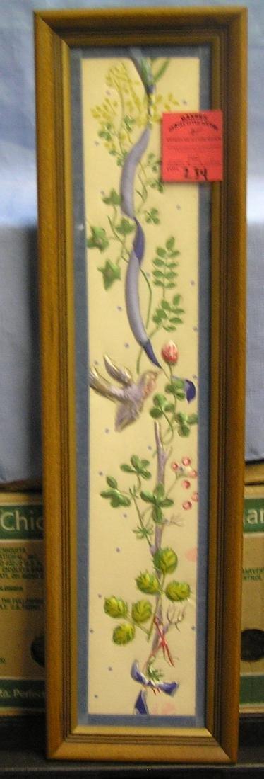 Vintage framed fabric print