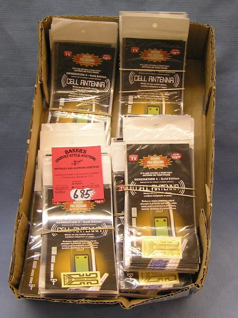 Box full of cell phone antennas