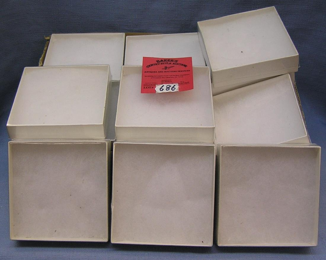 Box of jewelry display boxes