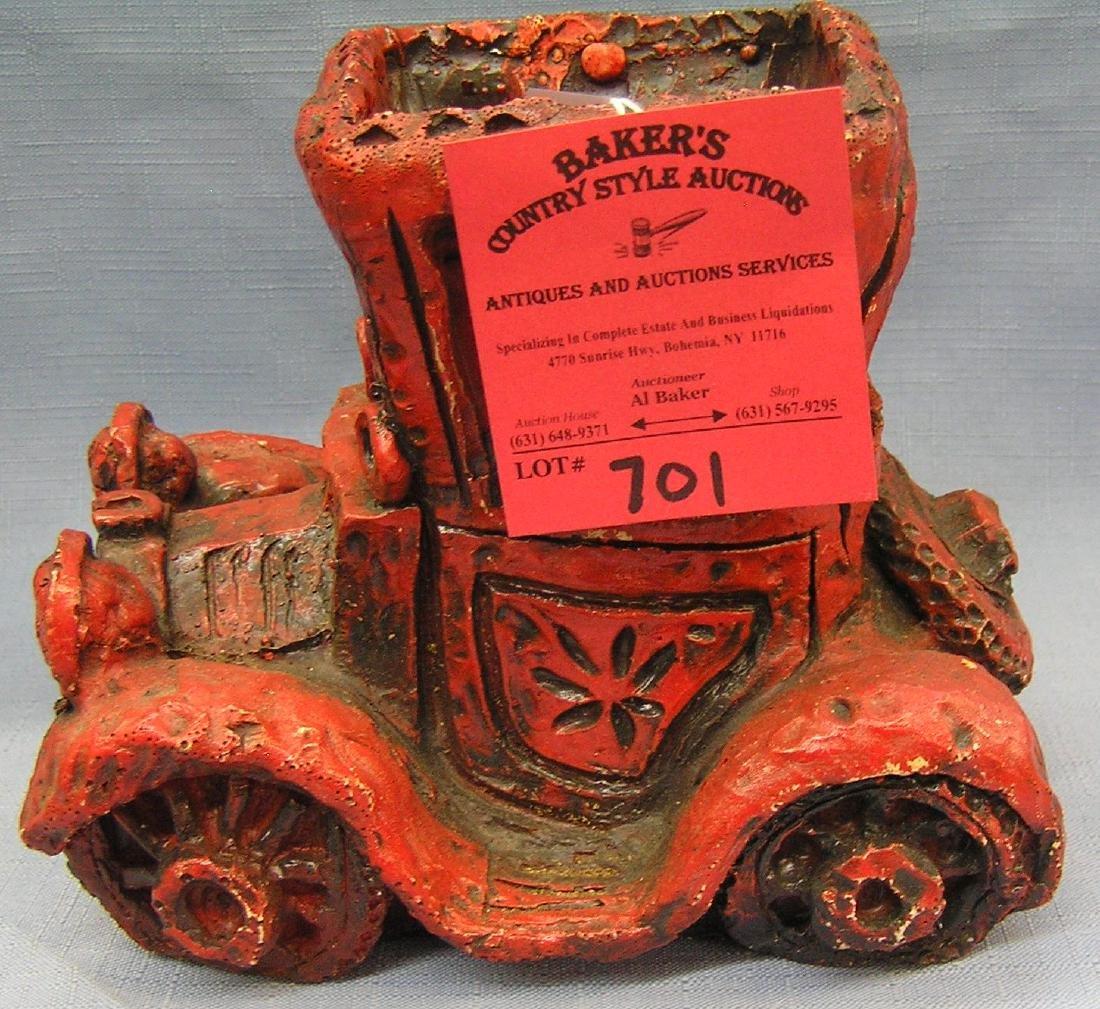Vintage antique auto style planter