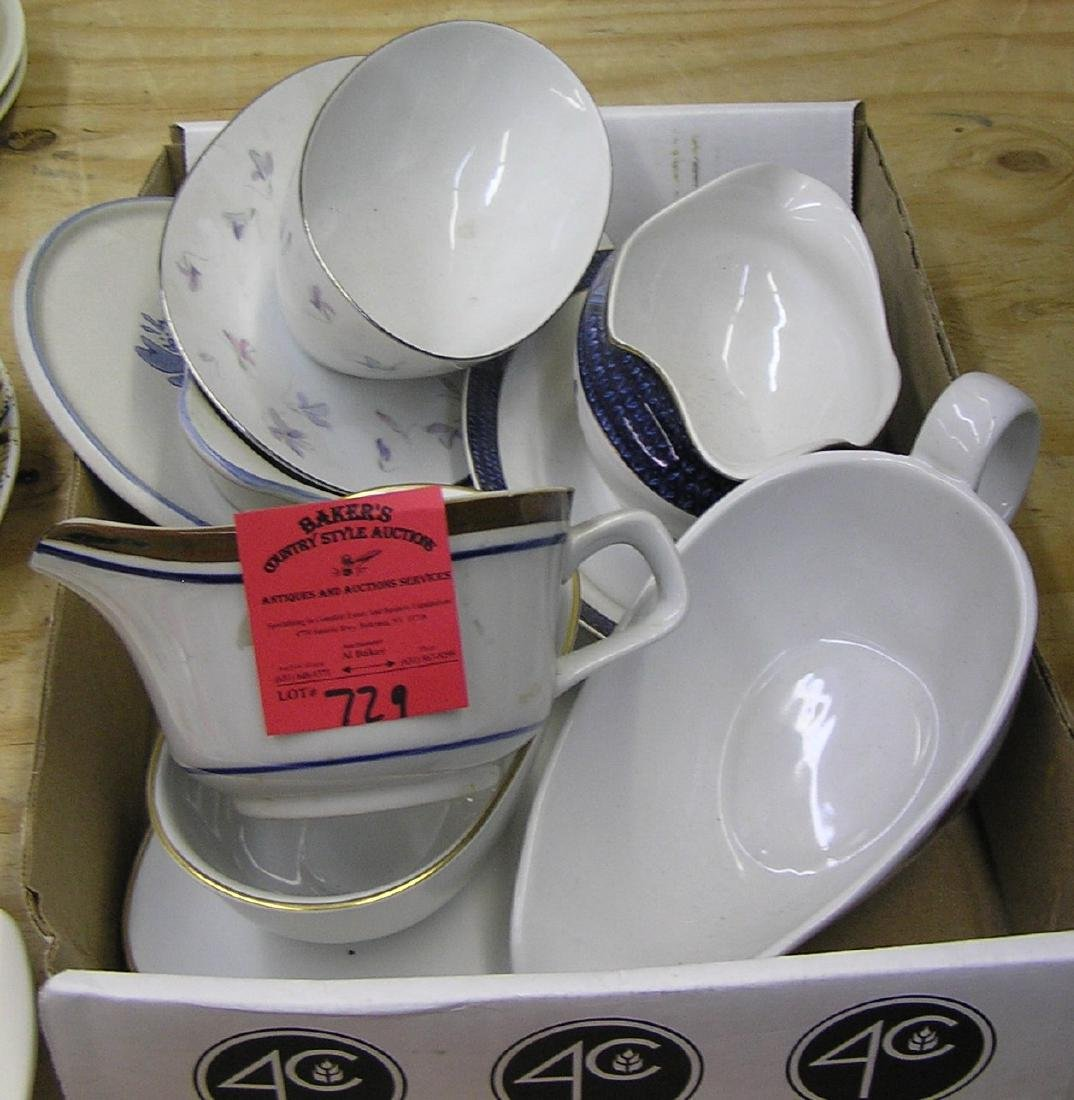 Group of vintage gravy boats