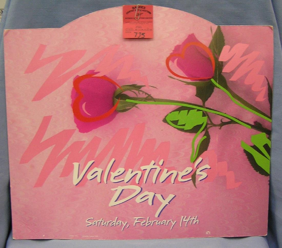 Valentines day die cut advertising  piece