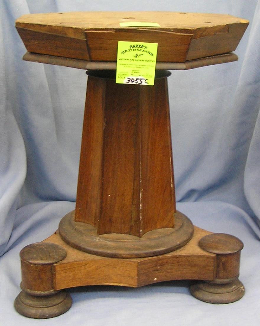 Antique walnut plant stand
