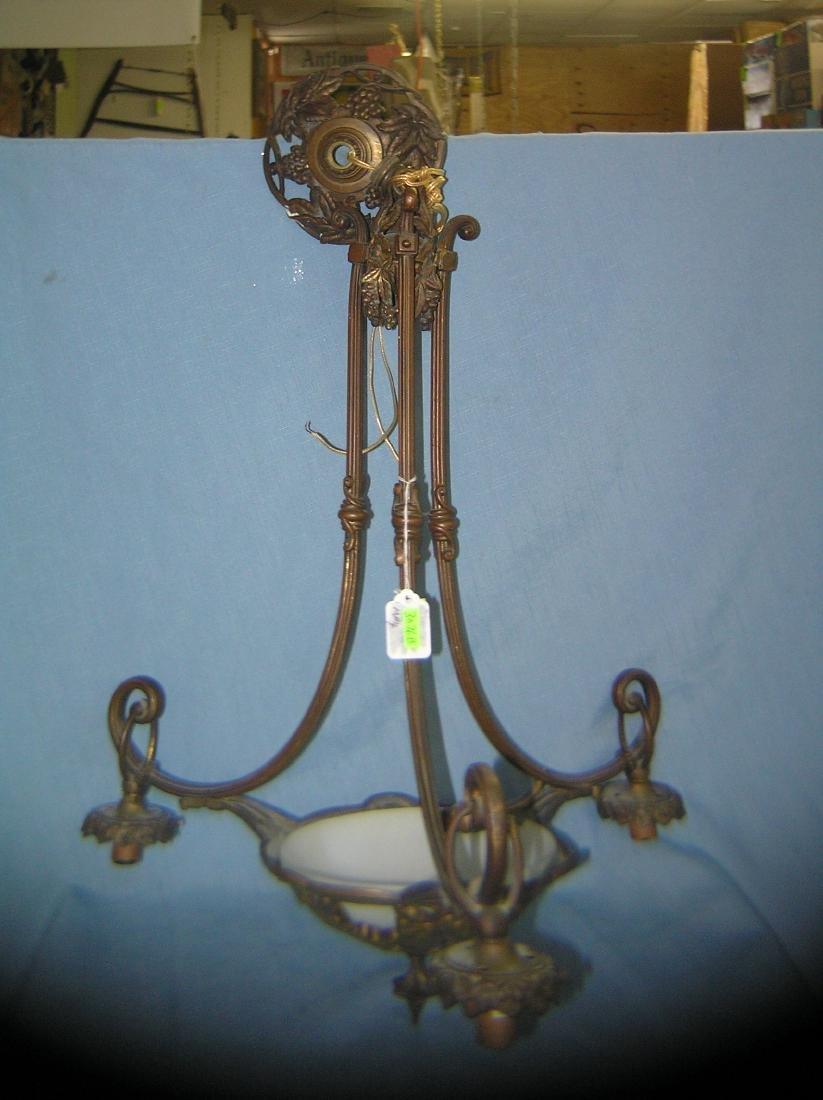 Bronze chandelier w/ grape & leaf decorations