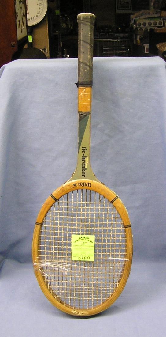 Pair of early Wilson tennis rackets