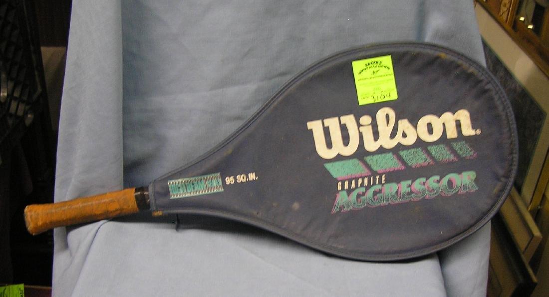 Modern aluminum head tennis racket with case