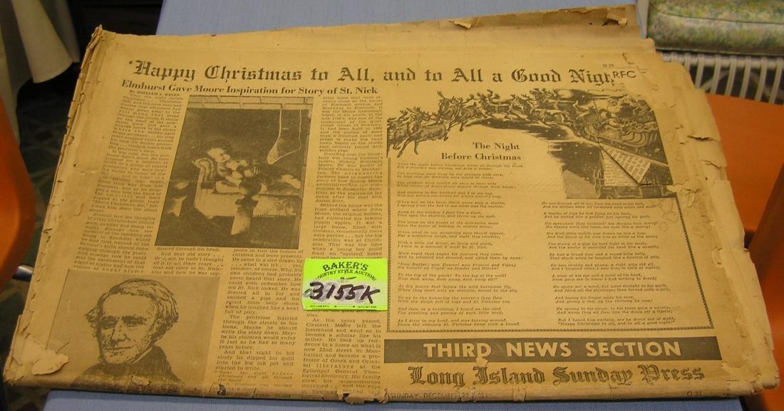 Vintage 1950's newspaper