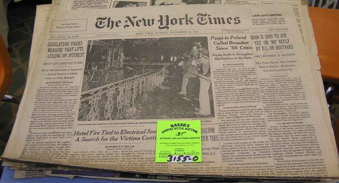 Group of Vintage newspapers and clippings