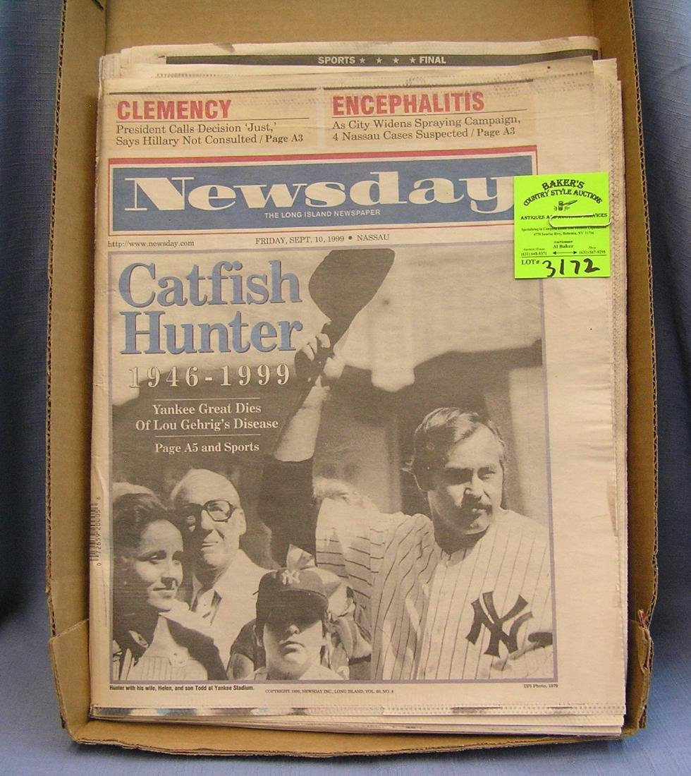 Cat Fish Hunter NY Yankee newspapers
