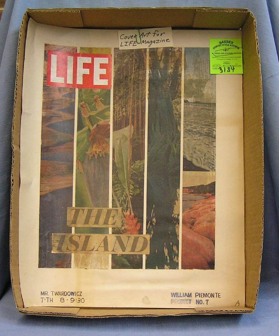 Vintage cover art for LIFE magazine