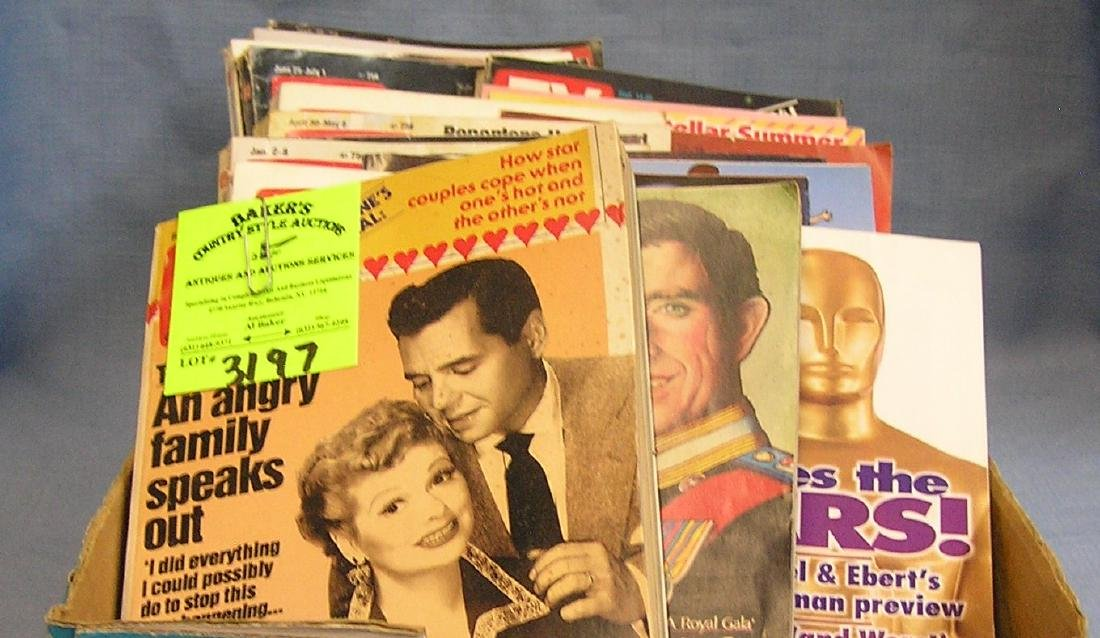 Large box of vintage TV guides