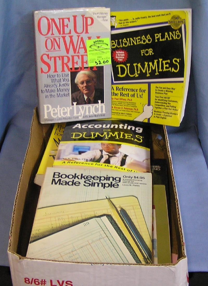 Large box of vintage reference books