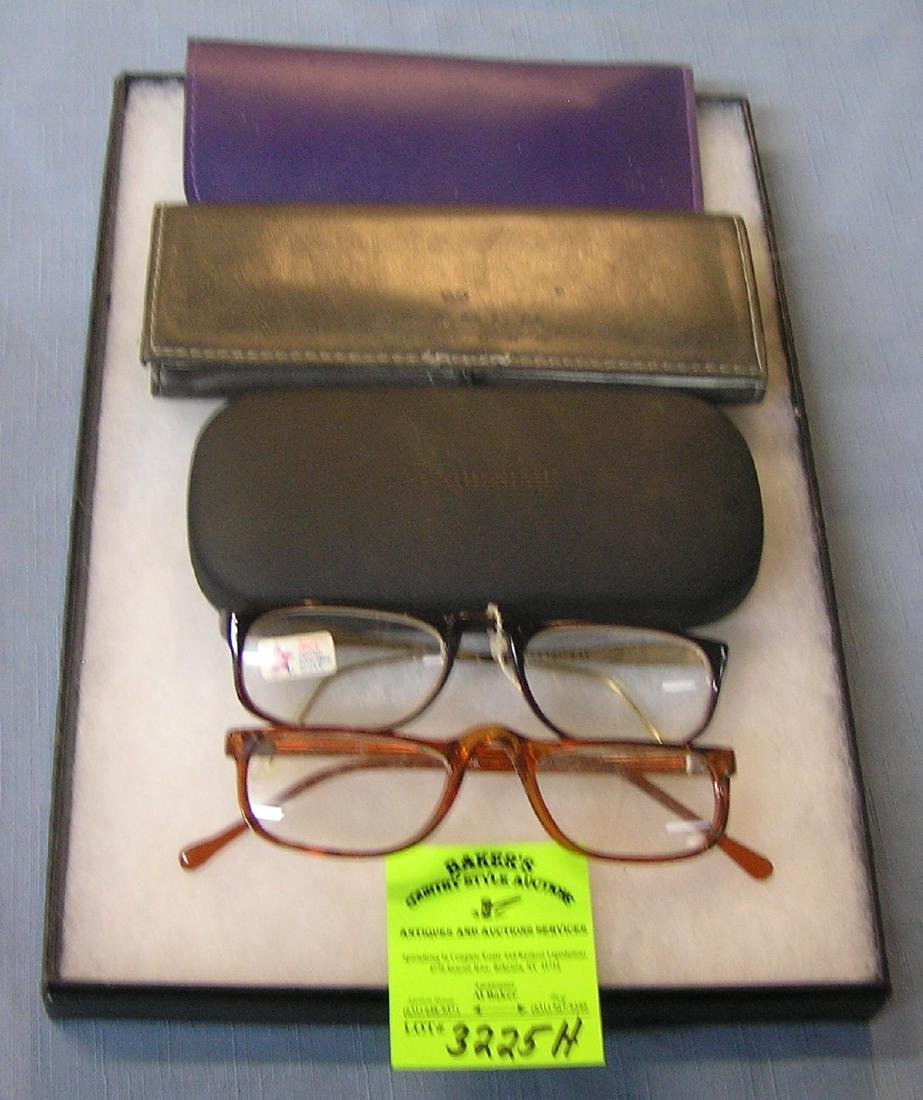 Group of vintage eyewear and cases
