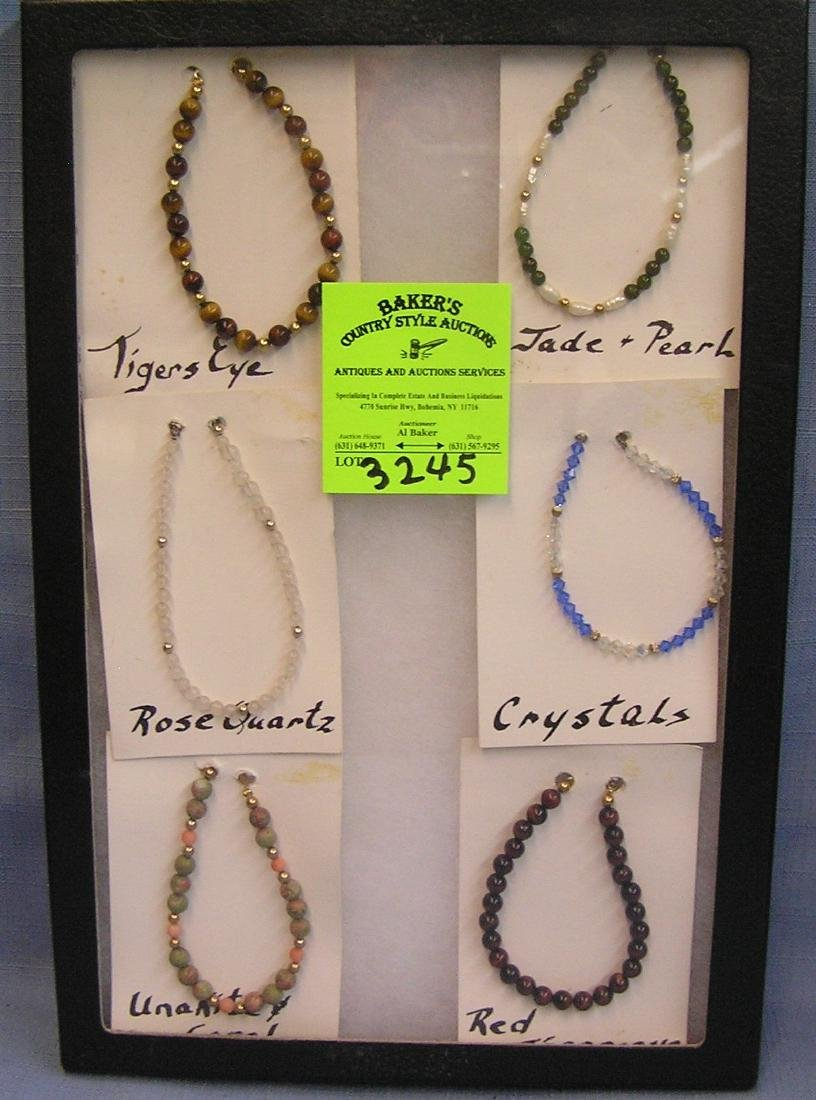 Collection of vintage quality beaded bracelets