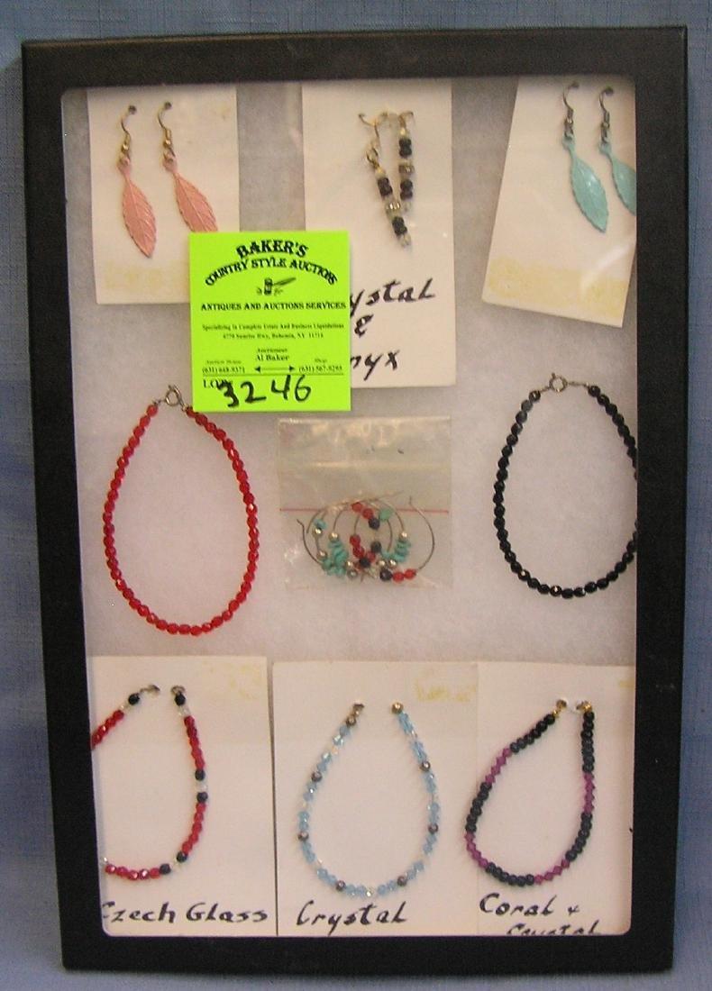 Vintage beaded bracelets and earring sets