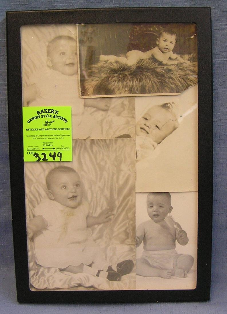 Collection of vintage baby photographs