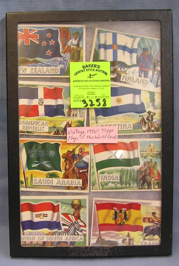 Collection of Topps Flags of the world cards