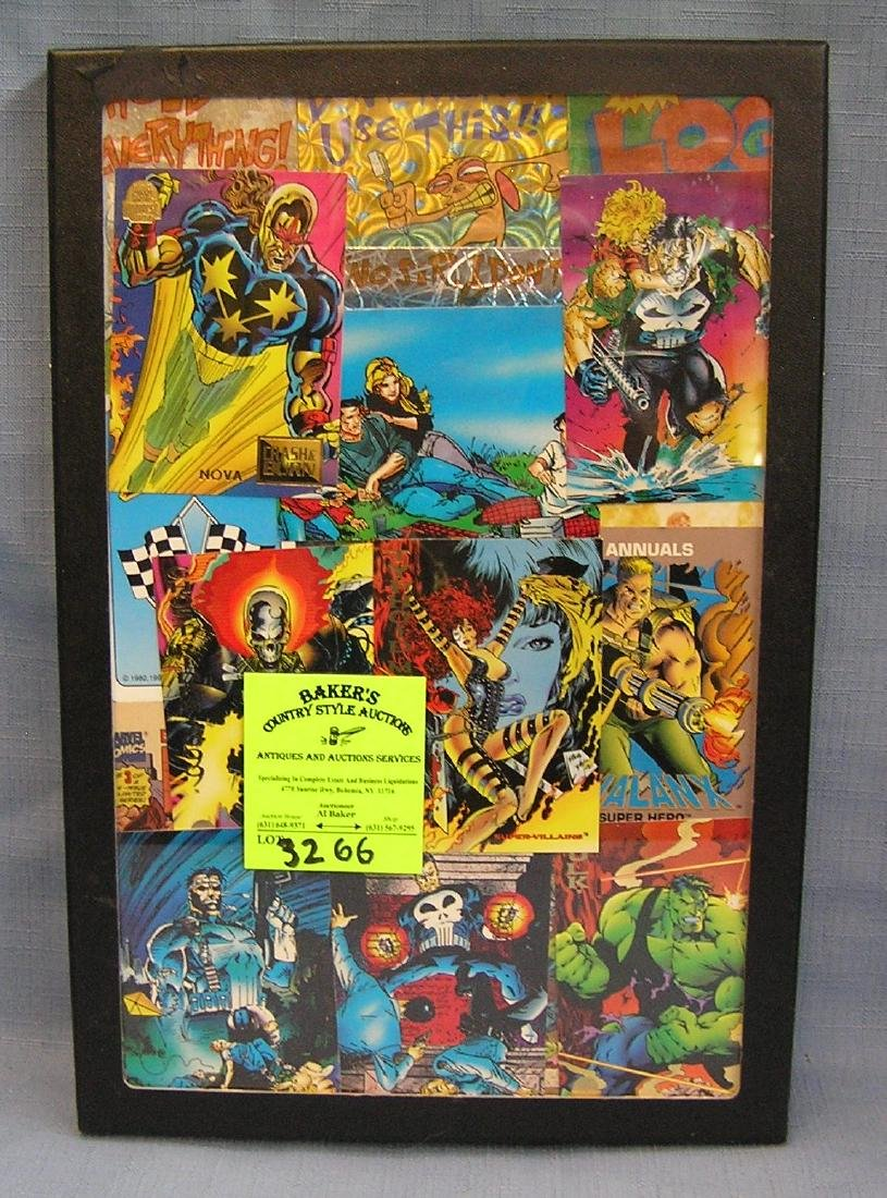 Collection of vintage Marvel and DC superhero cards