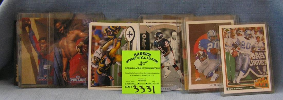 Collection of vintage all star football cards