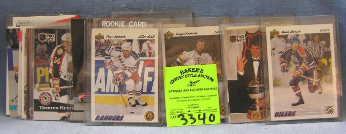 Vintage hockey cards including rookies