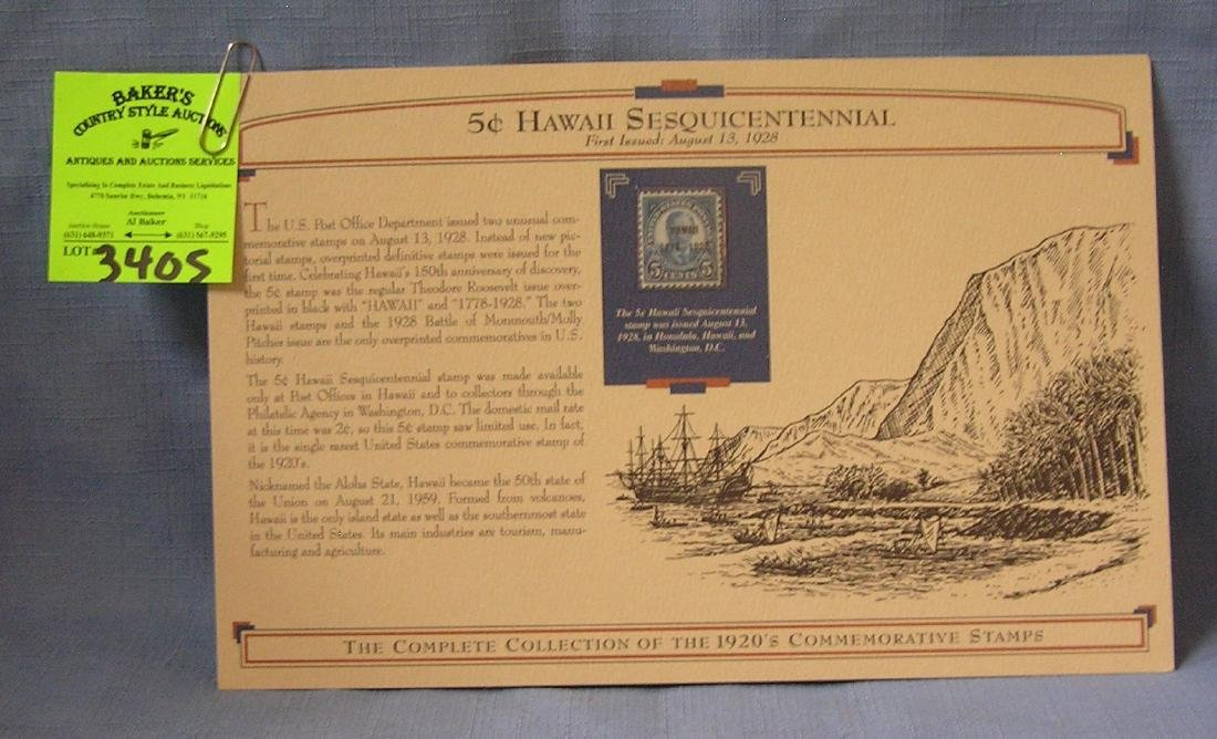 Five cent Hawaii Sesquicentennial stamp