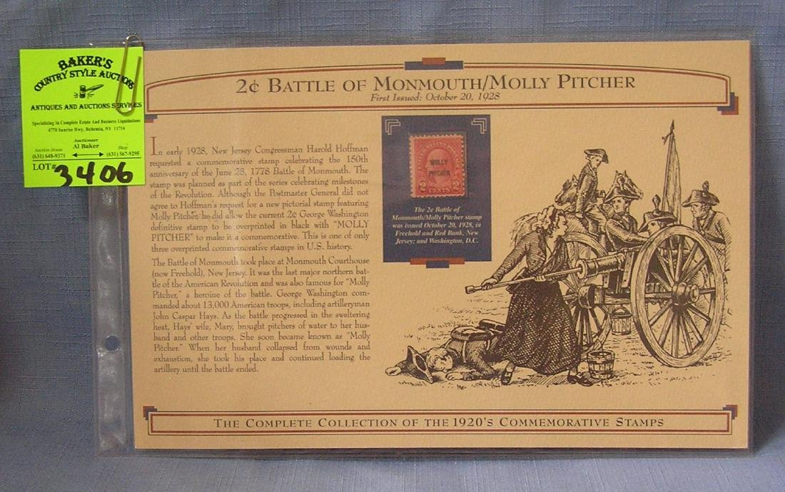 2 cent Battle of Monmouth/Molly Pitcher stamp