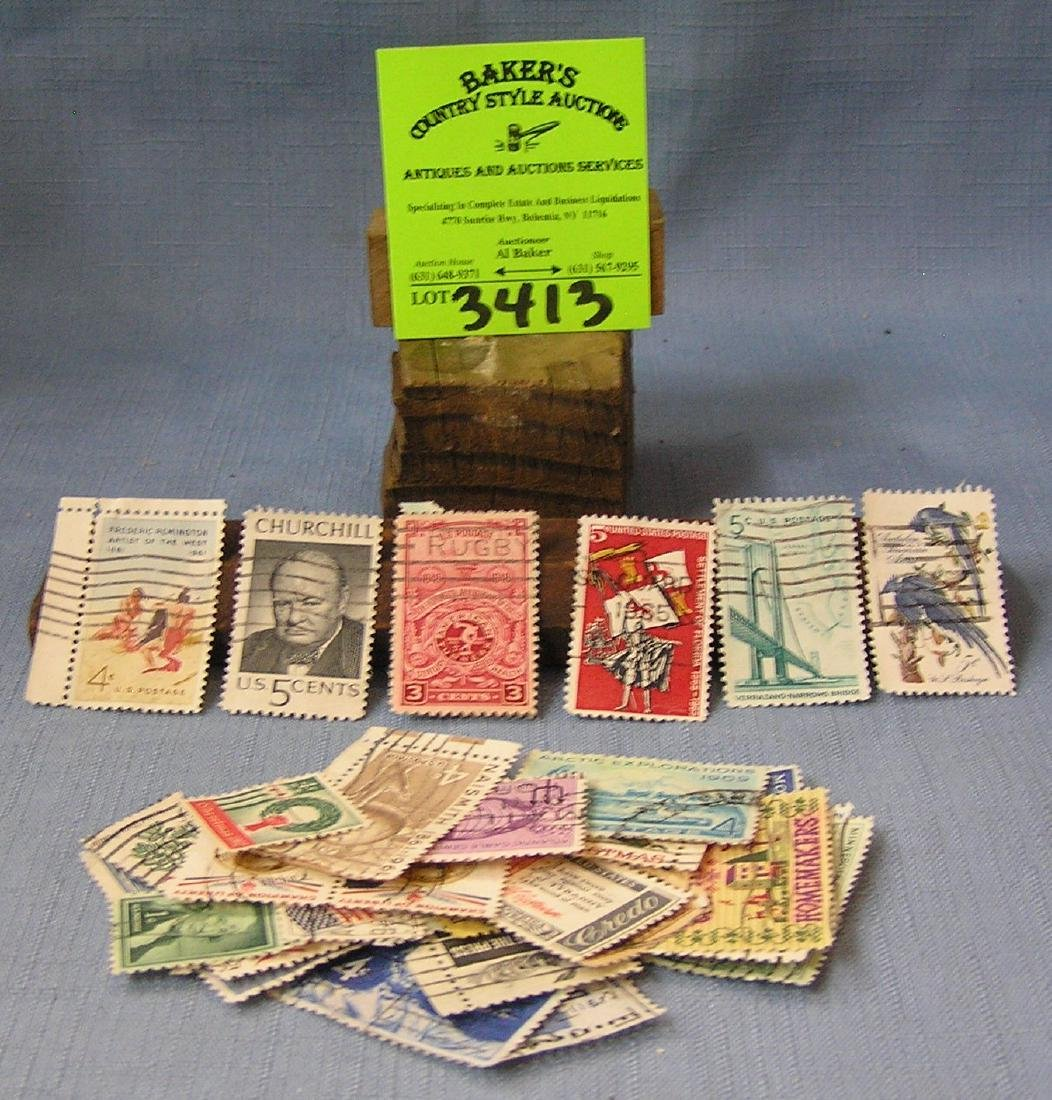 Collection of vintage US postage stamps