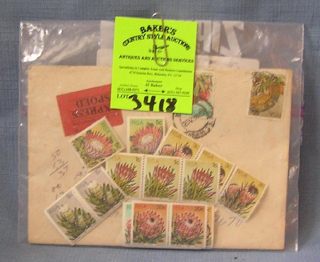 Group of vintage postage stamps