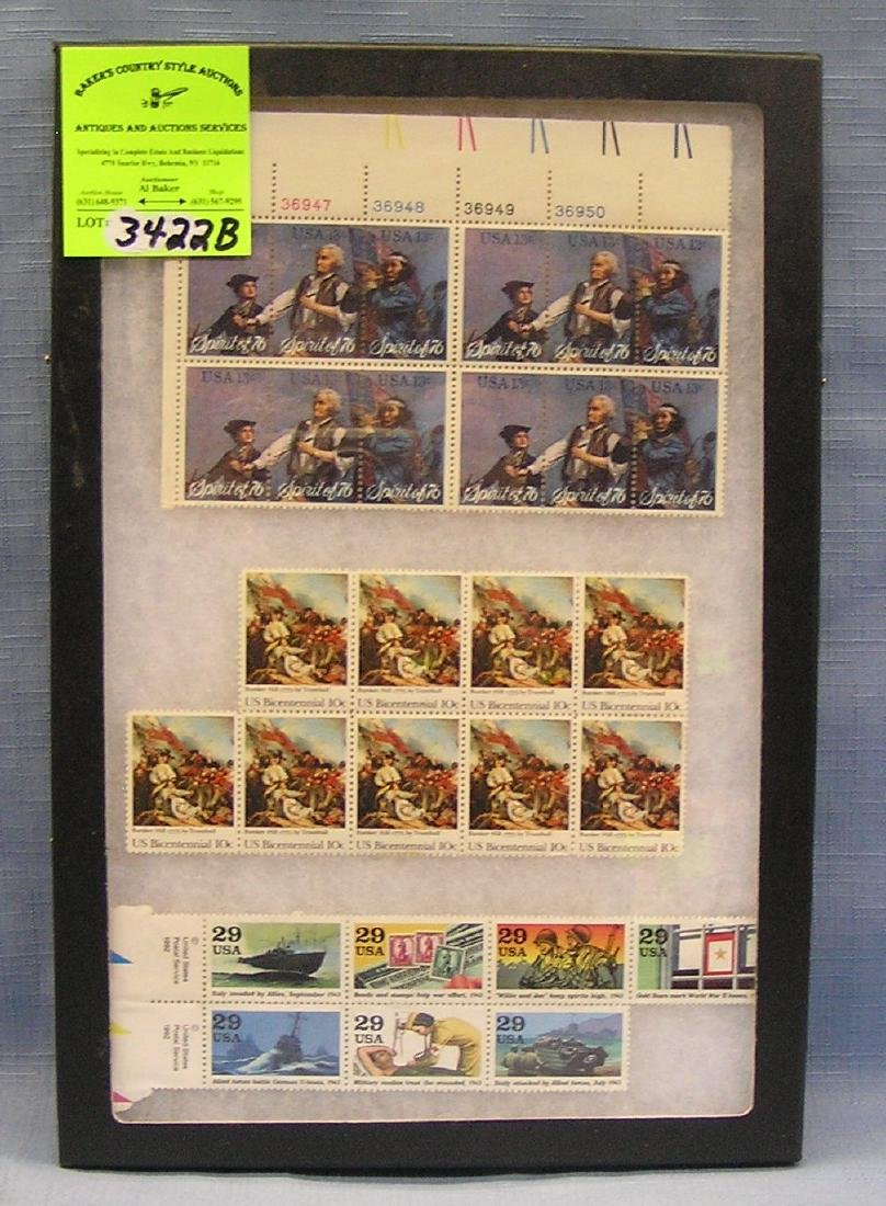 Collection of vintage US postage stamp sheets