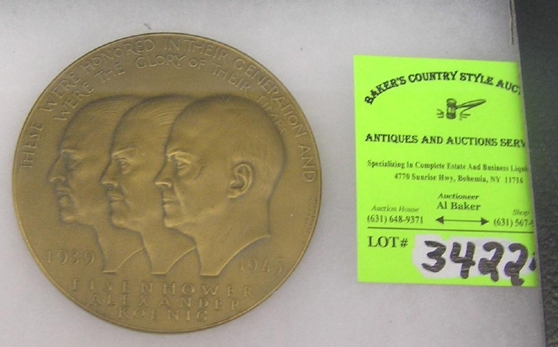 Memorial medallion for Eisenhower, Alexander & Koenig