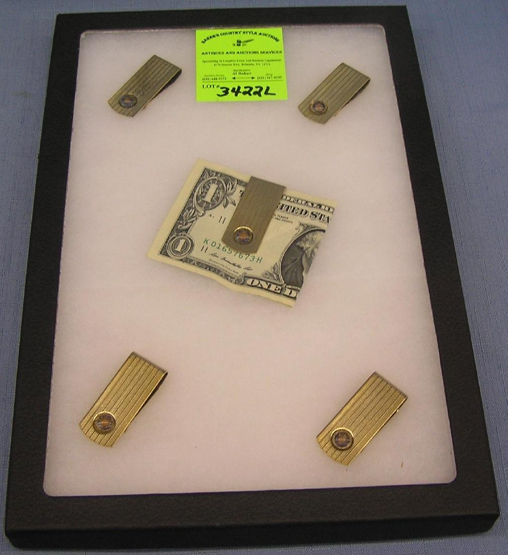 Group of quality gold plated money clips