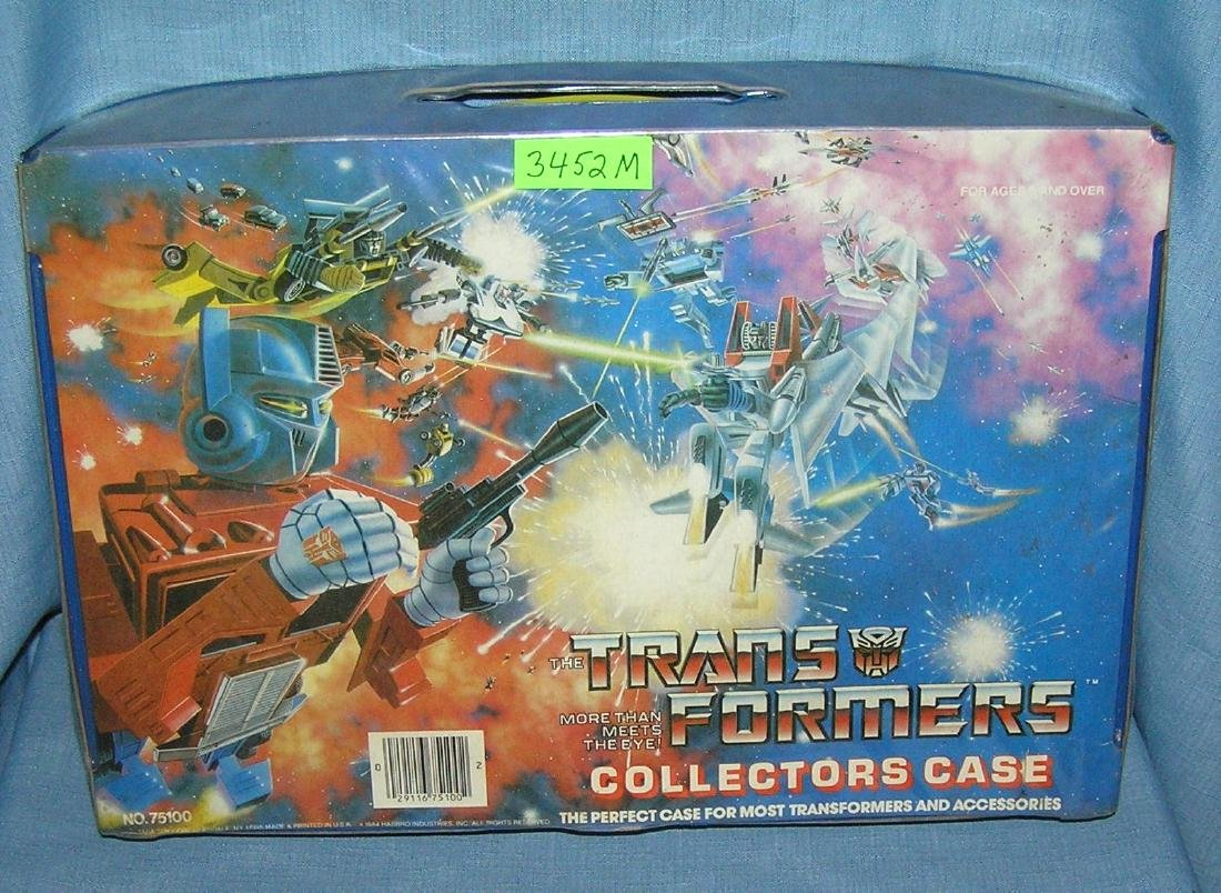 Original Transformers vinyl collector's case