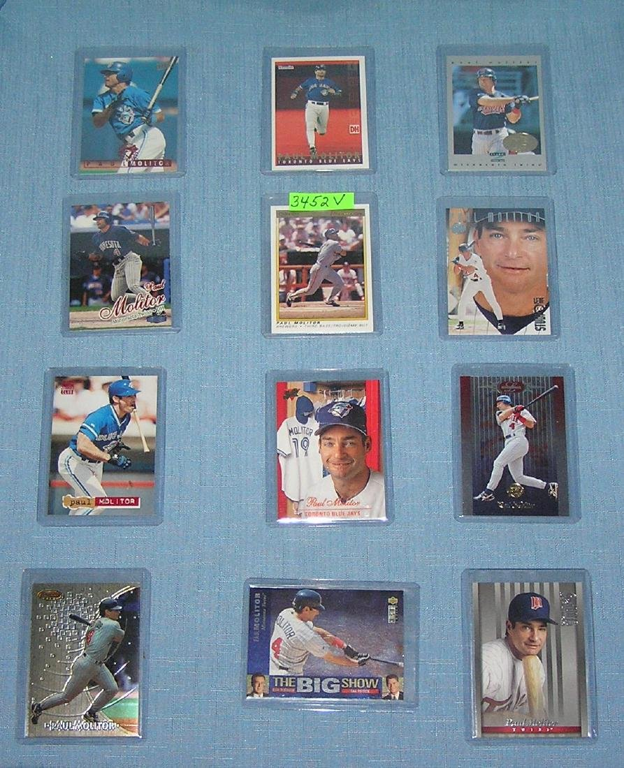 Collection of vintage Paul Molitor baseball cards
