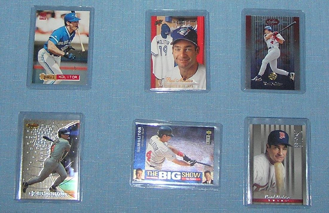 Collection of vintage Paul Molitor baseball cards - 2