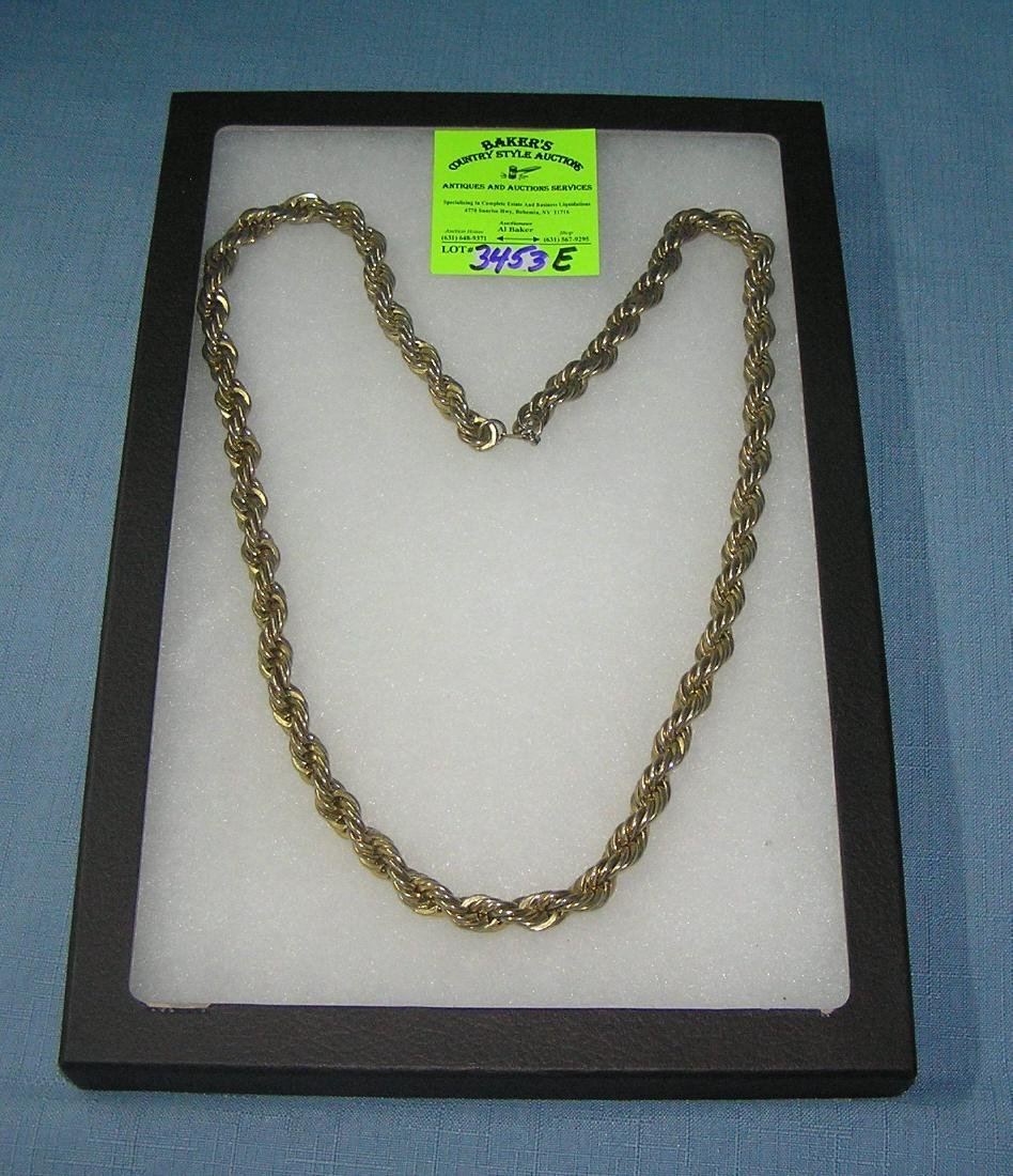 Heavy thick gold plated necklace